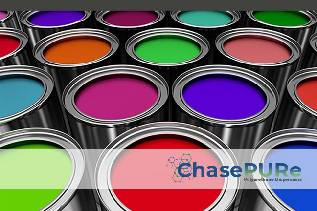 Paint cans in multiple colors